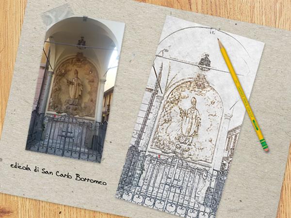 schizzo edicola San Carlo