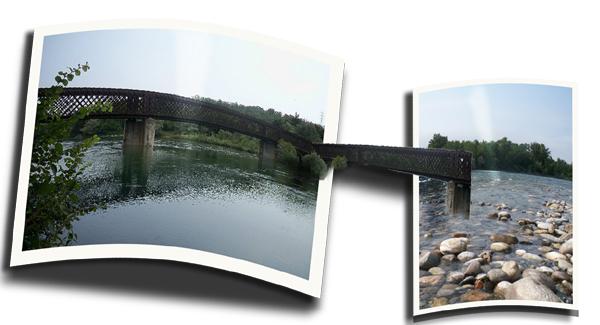 Il Ticino al ponte di Oleggio